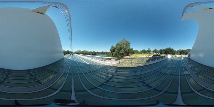 Panoramic at the Sundial Bridge in Redding